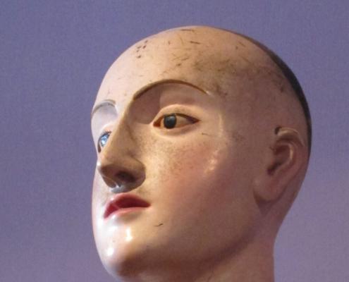 Kopf einer Prozessions - Figur, Museu de Arte Sacra, Funchal (Madeira), 2008