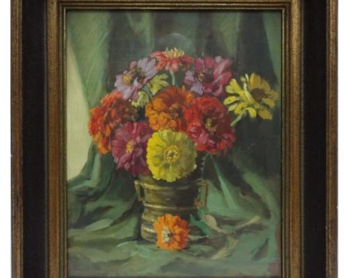 Hans Ebenbichler - Blumenstilleben, o. J. Öl auf Holz